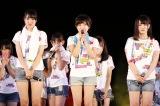初日公演で卒業発表した長崎代表・岩崎萌花、三重代表・山本亜依、愛知代表・藤村菜月(C)AKS