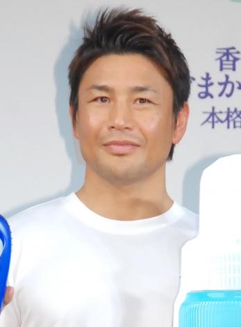 P&G『レノア本格消臭』のCMキャラクター就任イベントに出席した魔裟斗 (C)ORICON NewS inc.