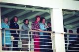 1973年初来日時の船上写真(横浜港) Photo by Koh Hasebe/Shinko Music