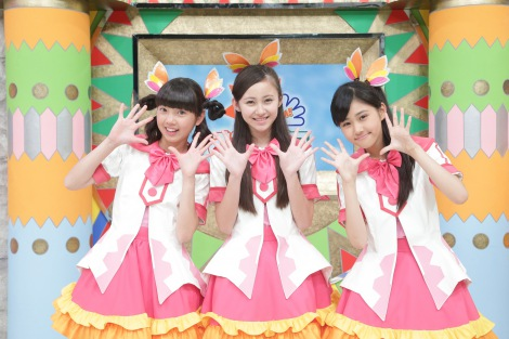 新「おはガール」(左から)みらい(未来)、さな(兼次桜菜)、なのか(原菜乃華)(C)テレビ東京