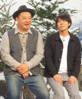NHKで『七人のコント侍』の第13期メンバー披露会見に出席した(左から)木下隆行(TKO)、コカドケンタロウ(ロッチ) (C)ORICON NewS inc.