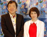 (左から)舞台『イントレランスの祭』の公開舞台稽古に登場した鴻上尚史氏、岡本玲 (C)ORICON NewS inc.