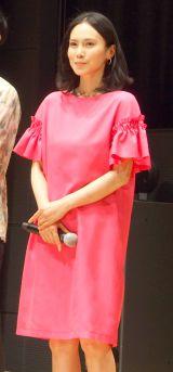 TBS系ドラマ『私結婚できないんじゃなくて、しないんです』試写会に出席した中谷美紀 (C)ORICON NewS inc.