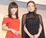 (左から)昆夏美、シルビア・グラブ=舞台『コインロッカー・ベイビーズ』製作発表会見 (C)ORICON NewS inc.