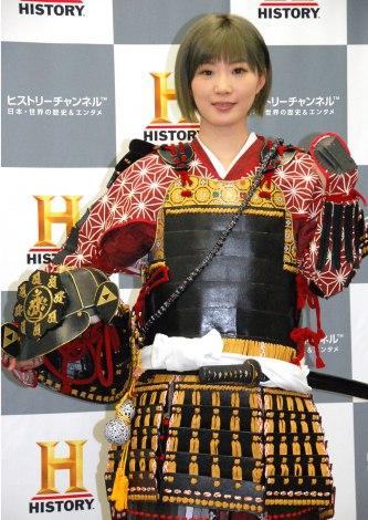 AKB48・田名部生来=ヒストリーチャンネル『戦いの城/特別編 山城へ行こう』取材会 (C)ORICON NewS inc.