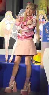 『美少女戦士セーラームーン』展オープニングセレモニーに登壇した若槻千夏 (C)ORICON NewS inc.