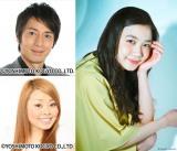 NHKの新音楽番組MC陣(上段左から時計回りに徳井義実、清水富美加、渡辺直美)