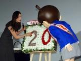 ゲスト声優の天海祐希がコナンの20周年を祝福 (C)ORICON NewS inc.