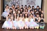 アイドルグループ・ふわふわ(左側)と原駅ステージA(右側)がCDデビュー記念イベントを開催