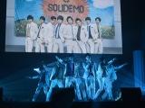 東京・お台場のZEPP DiverCityでデビュー2周年記念ライブ『SOLIDEMO 2nd ANNIVERSARY LIVE 絆』を開催したSOLIDEMO (C)ORICON NewS inc.