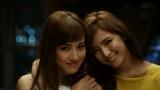 金曜日の夜、ダンスレッスンの後、仲よく一緒に帰る、藤井夏恋(左)&藤井萩花(右)姉妹