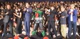 (左から)船越英一郎、小松菜奈、東出昌大、仮面ライダー1号、窪田正孝、片岡鶴太郎、豊島圭介監督 (C)ORICON NewS inc.
