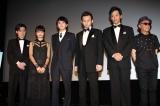 特別上映後の舞台あいさつに登壇した好井まさお、門脇麦、林遣都、波岡一喜、村田秀亮、廣木隆一監督(左から)