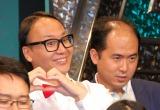 漫才大会『M-1グランプリ2015』エントリー受付開始記者会見に出席したトレンディエンジェル(左から)たかし、斉藤司 (C)ORICON NewS inc.