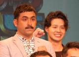 漫才大会『M-1グランプリ2015』エントリー受付開始記者会見に出席したデニス(左から)植野行雄、松下宣夫 (C)ORICON NewS inc.