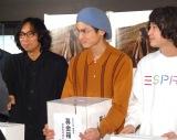 (左から)行定勲監督、高良健吾、柴田隆浩(忘れらんねえよ)=映画『うつくしいひと』チャリティー上映会 (C)ORICON NewS inc.