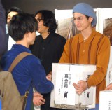 募金を呼びかける高良健吾=映画『うつくしいひと』チャリティー上映会 (C)ORICON NewS inc.