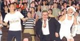(左から)高橋茂雄、芋洗坂係長、八木真澄=ディズニー長編アニメーション『ズートピア』舞台あいさつ付き上映会