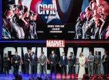 『シビル・ウォー/キャプテン・アメリカ』のUKプレミアの模様(C)2016 Marvel.