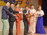 (左から)林家たけ平、村木弾、小沢あきこ、冠二郎、多岐川舞子、松川未樹 (C)ORICON NewS inc.