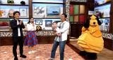 『さんまのまんま』に金山一彦&大渕愛子夫妻が出演。現在6ヶ月の長男・侑生(ゆうせい)くんを明石家さんまが抱っこした (C)関西テレビ