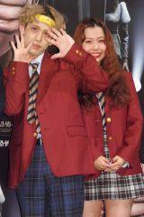 映画『劇場霊』女子学生限定試写会イベントに出席した(左から)りゅうちぇる、ぺこちゃん (C)ORICON NewS inc.