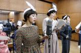 NHK総合で4月30日スタート『トットてれび』第1回より。新しい放送劇のオーディションが徹子(満島ひかり)の転機となる(C)NHK