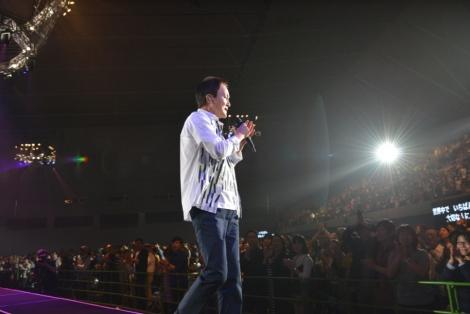 半年にわたる全国ツアーをスタートさせた小田和正(4月30日=静岡・エコパアリーナ) Photo by 菊地英二