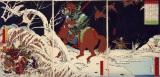 『錦絵 真田幸村、巡見中の家康を追い詰める』(明治6年/1873年 上田市立博物館所蔵)
