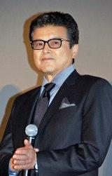 映画『64-ロクヨン-前編』初日舞台あいさつに登壇した三浦友和