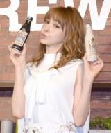 『GEORGIA COLDBREW Cafe』オープン記念イベントに登場した藤井リナ (C)ORICON NewS inc.