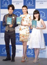 (左から)溝端淳平、藤原紀香、小芝風花 (C)ORICON NewS inc.