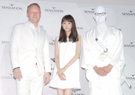 音楽フェスティバル『SENSATION』のアンバサダーに就任イベントの模様 (C)ORICON NewS inc.