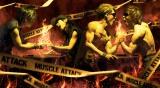 筋肉美を披露するMUSCLE ATTACK3rdアルバム『HERCULES ROAD』キービジュアル