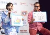 『熱中症ゼロへ プロジェクト2016年』プレス発表会に出席した(左から)福原遥、蝶野正洋 (C)ORICON NewS inc.