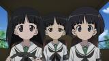 『ガールズ&パンツァー 劇場版』Blu-ray&DVDの映像特典、新作OVA『愛里寿・ウォー!』(劇場版本編の後日談)場面カット(C)GIRLS und PANZER Film Projekt