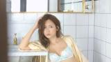 紗栄子が出演するピーチ・ジョンの新CMのメイキングカット
