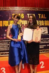 『第15回台湾国際ネイルコンテスト』に出場した(左から)南明奈、神宮麻実氏