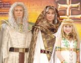 ミュージカル『王家の紋章』製作発表記者会見に出席した(左から)山口祐一郎、平方元基、新妻聖子 (C)ORICON NewS inc.