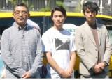 映画『森山中教習所』イベントに出席した(左から)豊島圭介監督、野村周平、賀来賢人 (C)ORICON NewS inc.