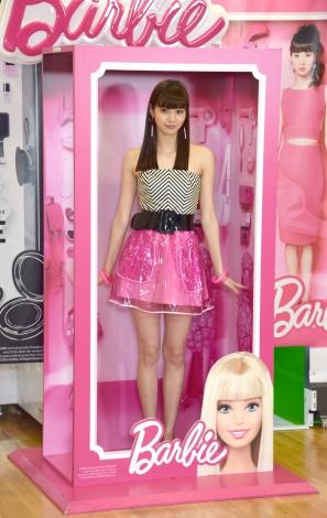 バービーの箱にイン!=プリントシール機『Barbie Your Doll』プレス発表会 (C)ORICON NewS inc.