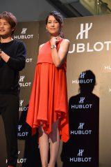 フリーアナウンサーの青木裕子が第2子出産後、初めてイベントに登場(C)ORICON NewS inc.