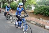 ジャガルタから800キロ、自転車での走破に挑戦するJKT48仲川遥香(C)JKT48 Project