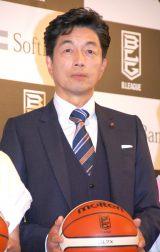 男子バスケットボール『B.LEAGUE』開幕日・対戦カード発表会見に出席した中村雅俊(C)ORICON NewS inc.