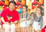 (左から)坂上忍、4歳の双子の女児・りんかちゃん&あんなちゃん (C)ORICON NewS inc.