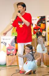 キュートな4歳の双子姉妹にタジタジの坂上忍=アニメーション映画『アングリーバード』公開アフレコ (C)ORICON NewS inc.