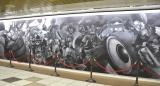 新宿駅の『ドラクエ』巨大黒板アート (C)ORICON NewS inc.