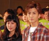 (左から)映画『植物図鑑 運命の恋、ひろいました』公開直前イベントに出席した高畑充希、岩田剛典 (C)ORICON NewS inc.