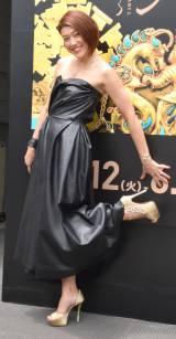 特別展『黄金のアフガニスタン〜守りぬかれたシルクロードの秘宝〜』東京展入場者数10万人突破セレモニーに登場したLiLiCo (C)ORICON NewS inc.