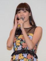 映画『全員、片想い』完成披露舞台あいさつに出席した新川優愛 (C)ORICON NewS inc.